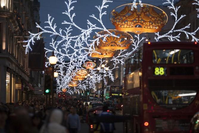 Рождественские огни на Риджент-стрит