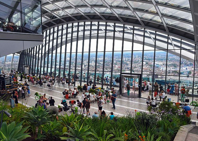THE SKY GARDEN IN 20 FENCHURCH STREET. dailymail