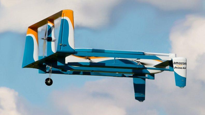 Технологии: Amazon будет тестировать доставку товаров в Британии при помощи дронов