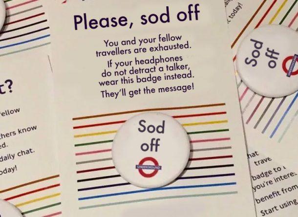 Юмор: Лондонцы предлагают остроумную замену значкам Tube Chat