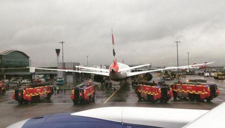 """Происшествия: В Heathrow сообщили о """"возможном пожаре"""" в самолете"""