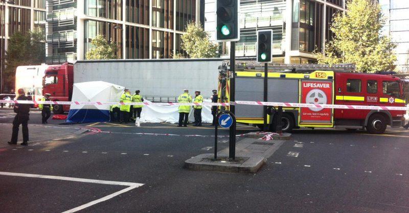 Происшествия: Велосипедист попал под фуру недалеко от Knightsbridge