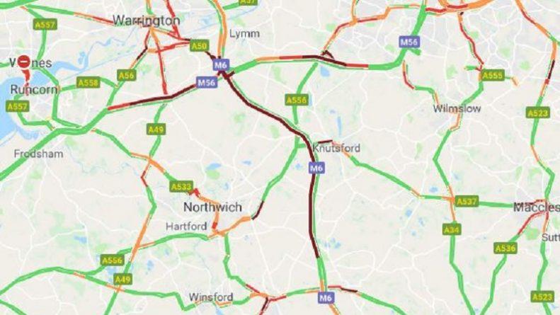 Происшествия: Значительные задержки на трассе М6 на северо-западе Англии