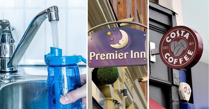 Общество: Скоро британцы смогут бесплатно набирать питьевую воду в Costa Coffee и Premier Inn
