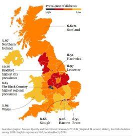В Великобритании возросло число больных диабетом