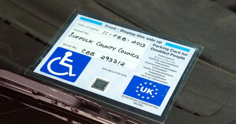 Thefts of disabled blue badge