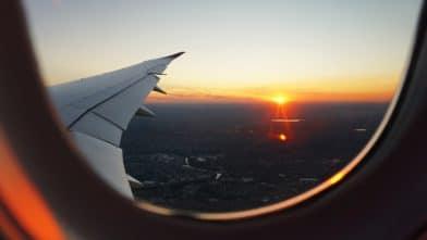 вид из окна самолета