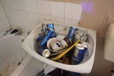 мусор в раковине