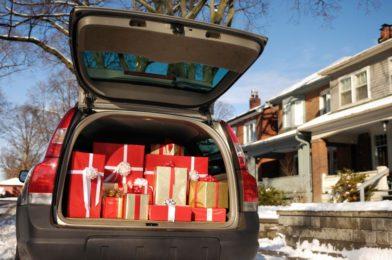 подарки в машине