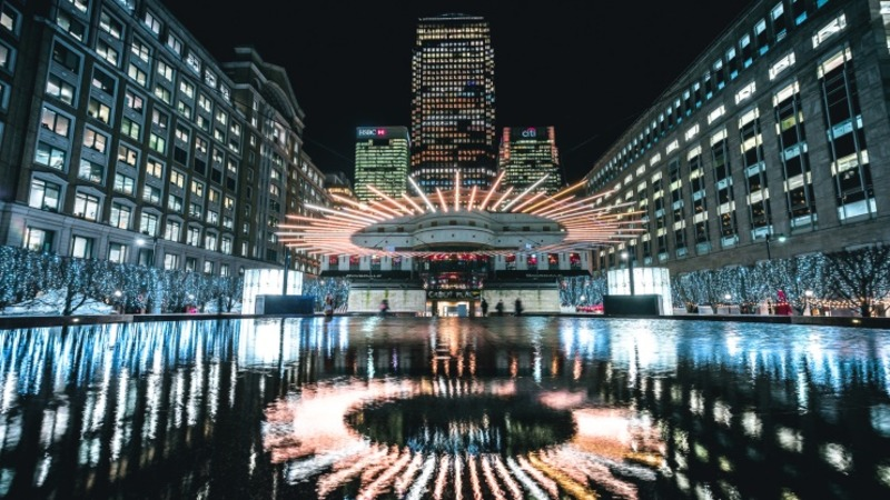 Canary Wharf Winter Lights 4