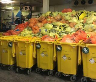 медицинские отходы в контейнерах