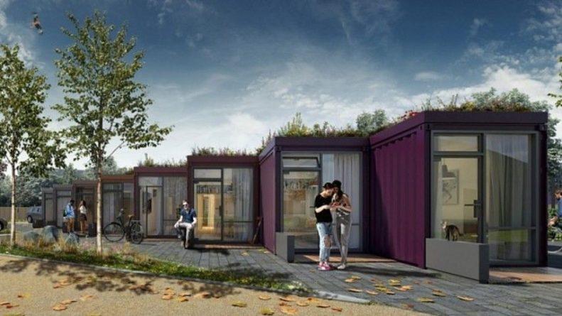 """Общество: В Британии создадут жилой район из контейнеров с """"зелеными"""" крышами"""