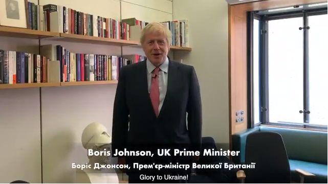 Британский премьер обратился к украинцам с бандеровским лозунгом