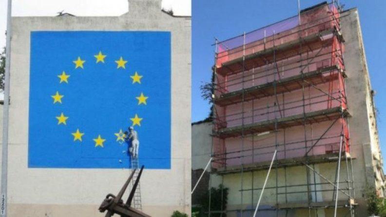 Общество: В Британии закрасили знаменитое граффити Бэнкси
