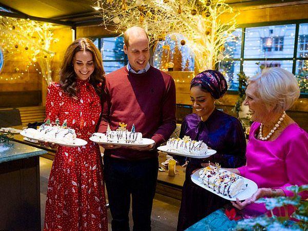 Королевский мастер-класс: Кейт Миддлтон и принц Уильям поучаствовали в рождественском кулинарном шоу (ФОТО)