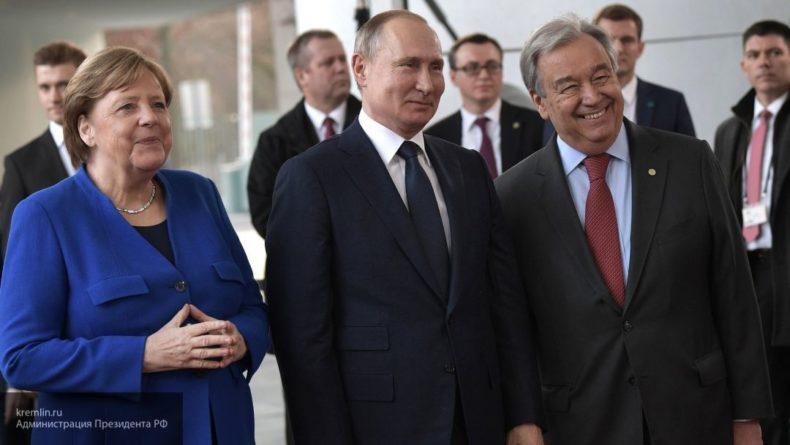 Общество: Путин покинул конференцию в Берлине по Ливии